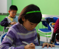 Young Students Taking a Test