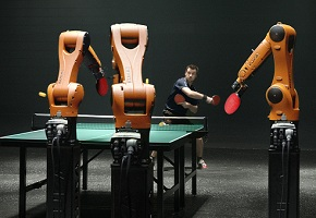 Timo Boll plays robot