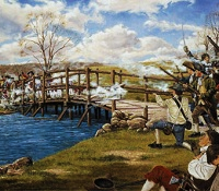 Concord bridge revolutionary war