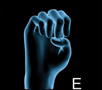 ASL Alphabet Letter E