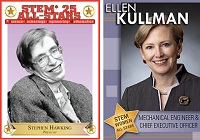 Stephen Hawking and Ellen Kullman STEM All Stars