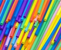 plastic colored straws