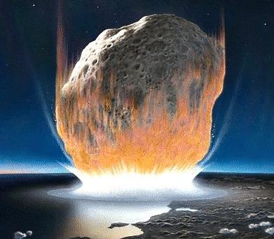 asteroid strikes ocean