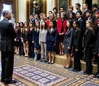 2013 Intel Science Talent Search finalists with President Obama