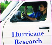 hurricane research truck