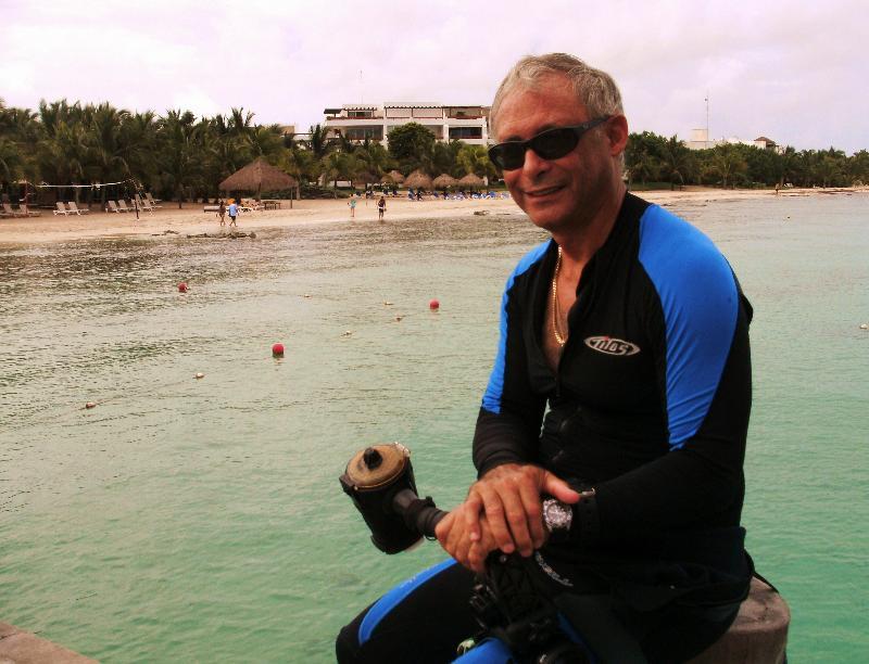 Paul on the dock