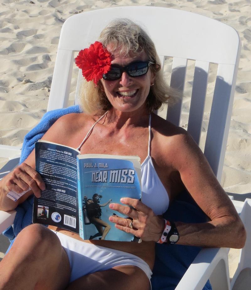 Ellen Rogers in the beach in Cuba
