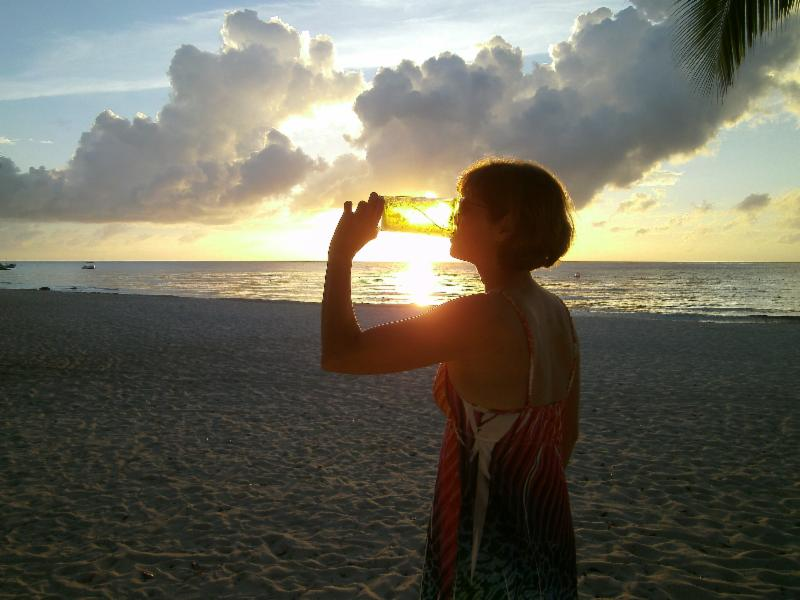 Kathy Salutes the Sunset