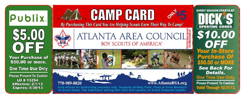 2013 Camp card - front