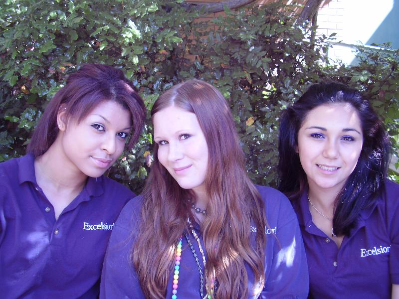 THREE GIRLS IN UNIFORM