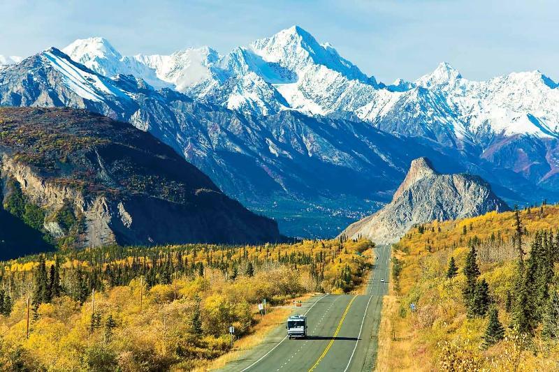 Lions Head Mountain along the Glenn Highway National Scenic Byway - Alaska