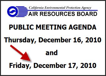 CARB Dec Meeting Agenda