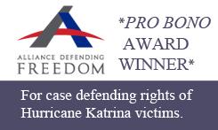 Mauck & Baker is an Aliance Defending Freedom Pro Bono award winner.