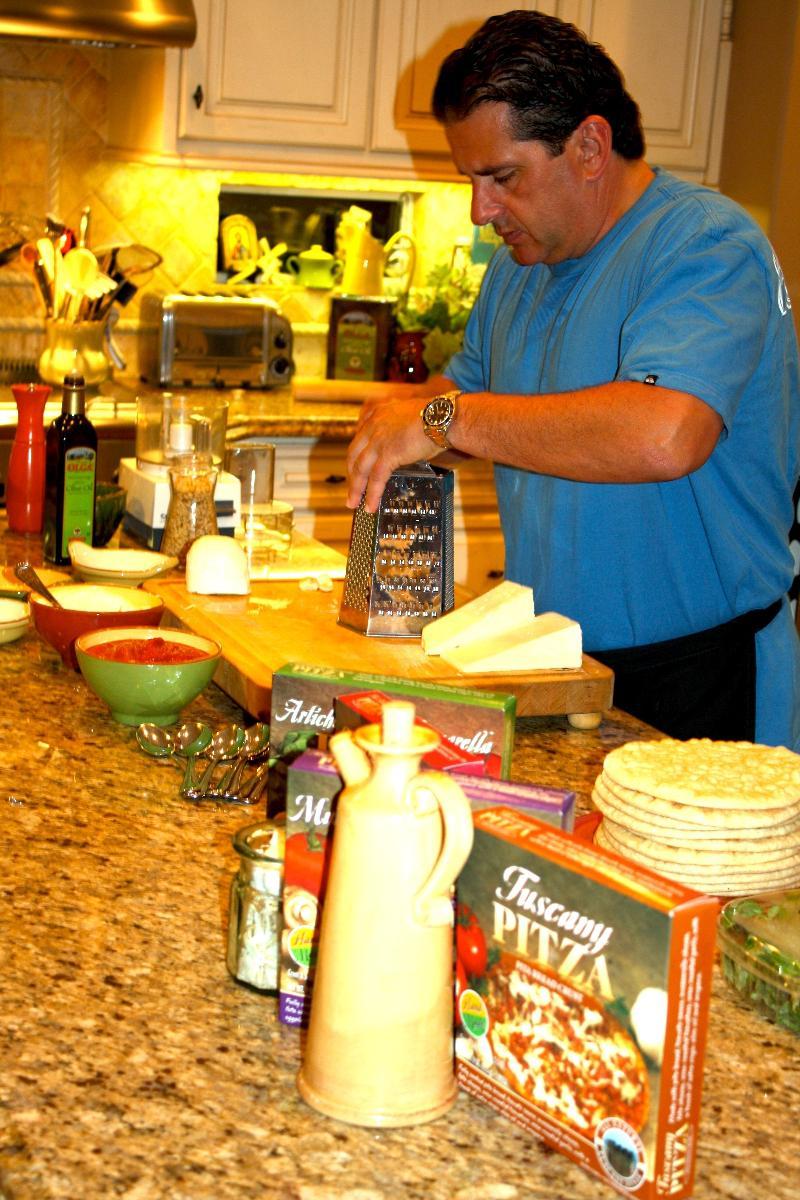 Orestis in The PITZA test kitchen