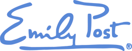 Emily Post Signiture Logo Blue