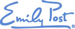 Emily Post Signiture Logo Blue