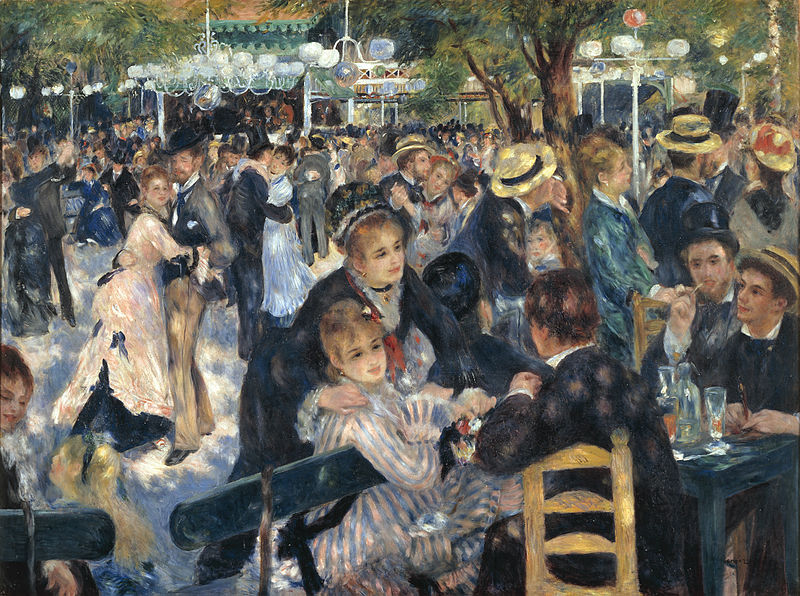 Pierre-Auguste Renoir, Dance at Le Moulin de la Galette (Bal du moulin de la Galette), Musée d'Orsay, 1876