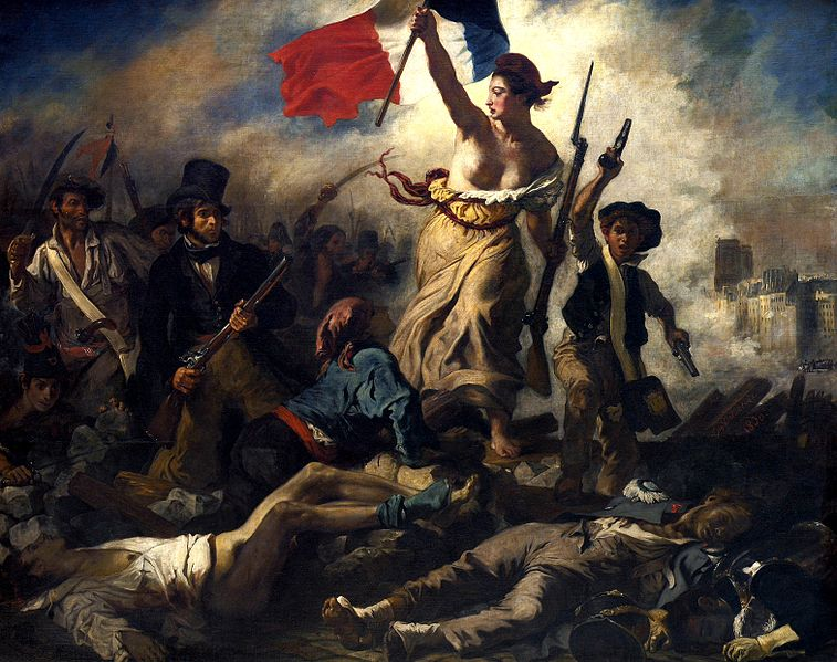 Liberty Leading the People by Eugène Delacroix  c1830