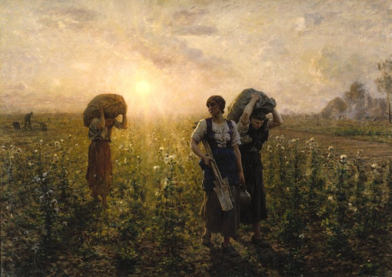 The End of the Working Day by Jules Breton c1887