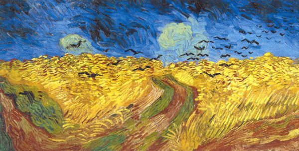 Wheat Field with Crows by Van Gogh, c 1890