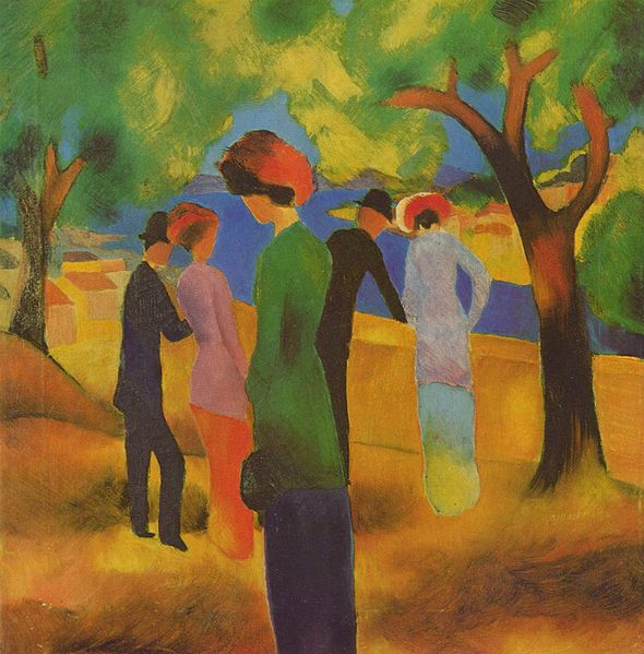 Lady in a Green Jacket by August Macke c1913