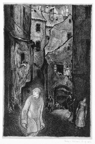 The Appearance of the Golem by Hugo Steiner-Prag c1915