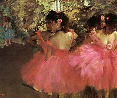 Degas, Dancers in pink, c 1885
