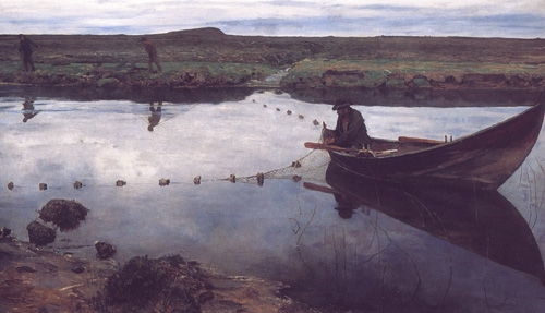 The Salmon Fisher by Eilif Peterssen c1889