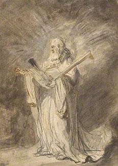 Messenger of God Appearing to Joshua, 1640-44, Ferdinand Bol