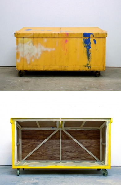 Yellow Dumpster (Yellow with blue swoosh) by Kaz Oshiro c2010