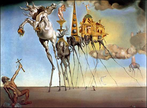 The Temptation of St. Anthony by Salvador Dali c1921