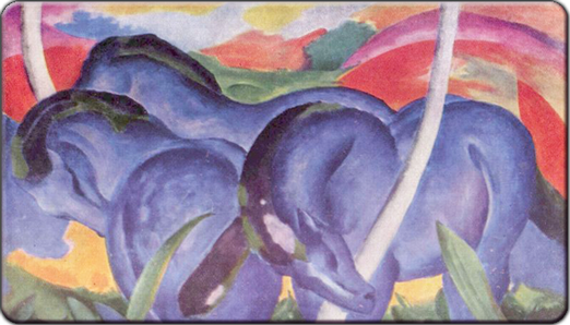 Blue Horses by Franz Marc c1911