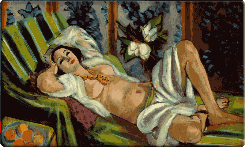 Odalisque with Magnolias by Henri Matisse