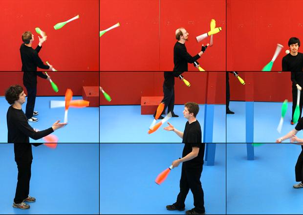 The Jugglers (Detail) by David Hockney