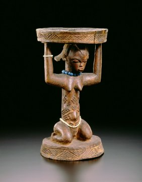 Caryatid Stool, Africa, Democratic Republic of the Congo, Luba Peoples