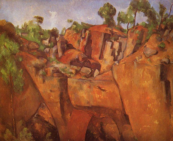 Steinbruch Bibemus by Paul Cézanne, c1898