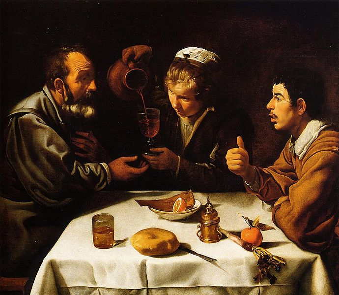 The Farmer's Lunch by Diego Velázquez c1620