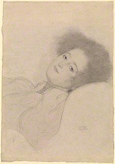 Portrait of a Young Woman Reclining, 1897-98, Gustav Klimt