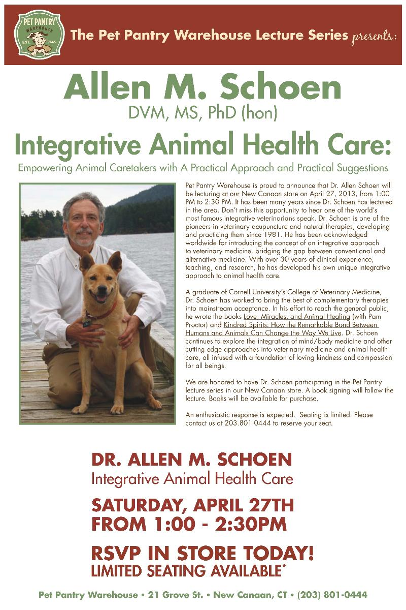 A Pet Pantry Warehouse Lecture Series - Presents: Dr Allen Schoen