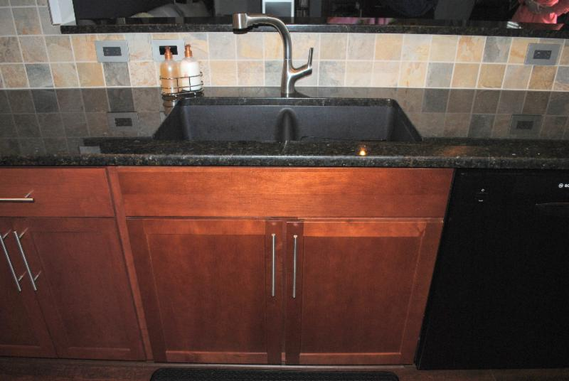 granite composite sink stainless steel double bowl undermount sink ...