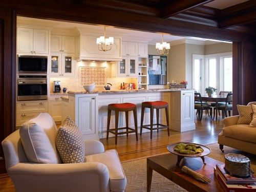 Small Open Kitchen Living Room Interior Design Ideas