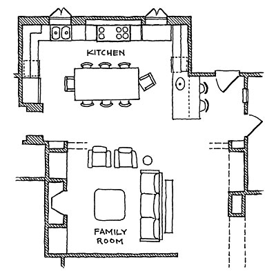 open kitchen - Kitchen Floor Plans
