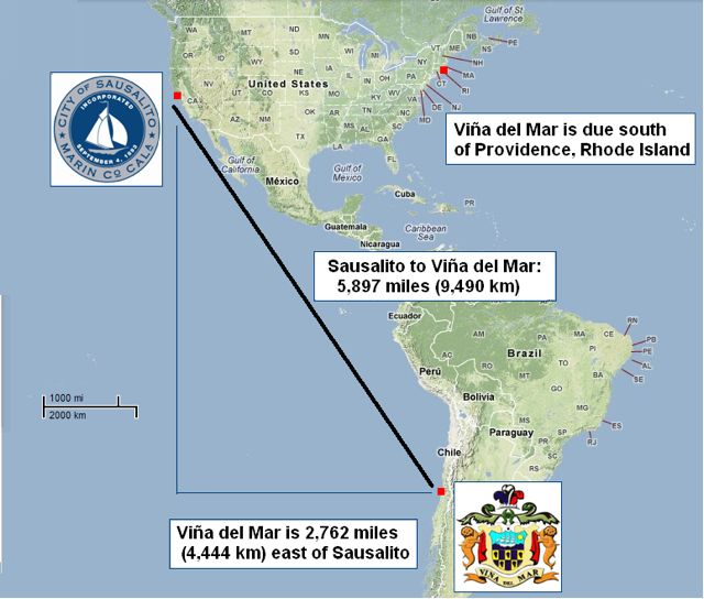 Map-US to Chile