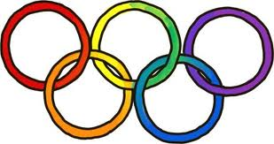 rainbow colored olympic rings