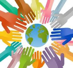 hands surrounding earth