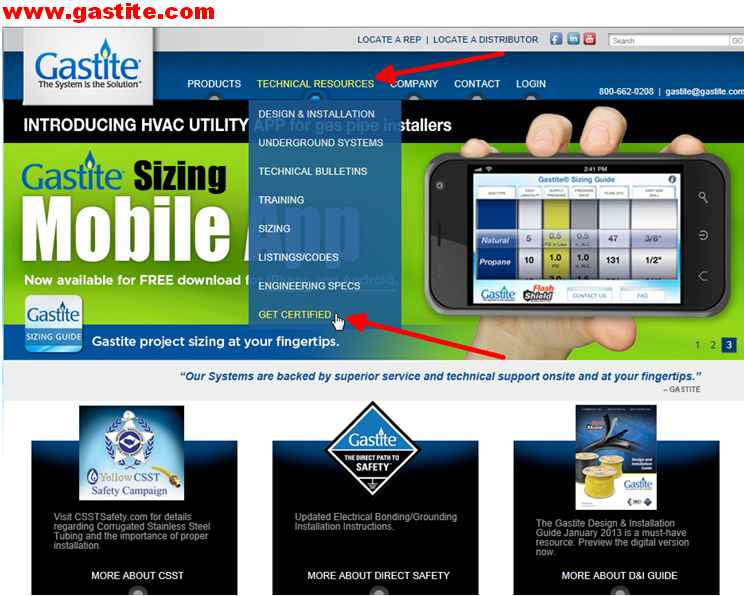 Gastite-Flash Shield UpGrade Certification & Mobile Apps