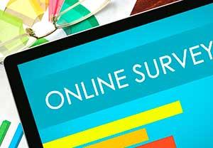Online survey on tablet