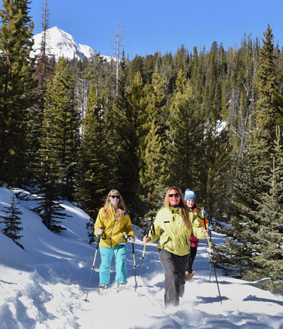 Snowshoeing at Big Sky