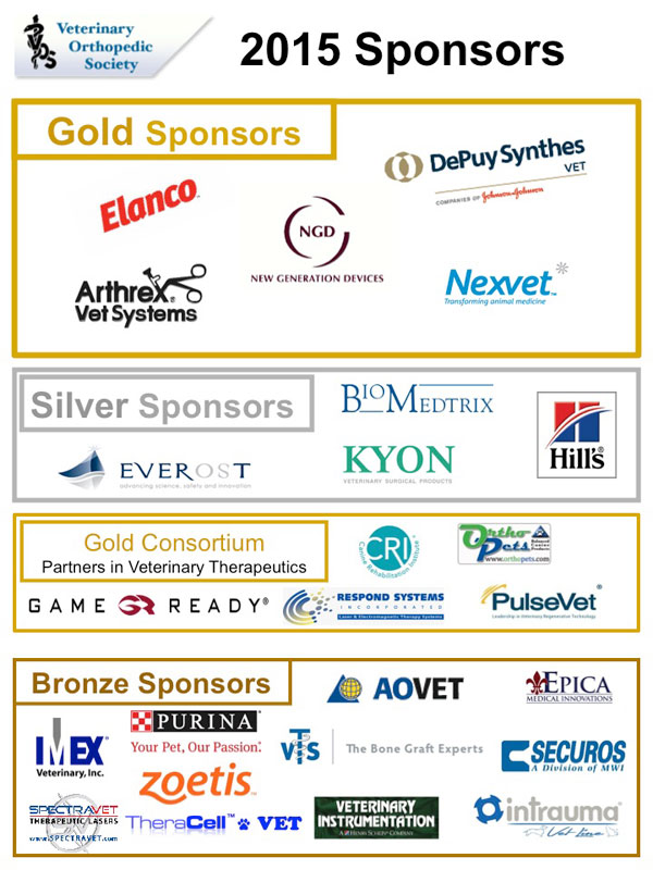 VOS 2015 conference sponsors