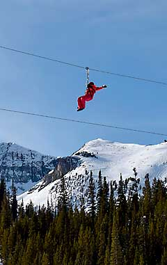 Zipline at Big Sky Resort_ Montana
